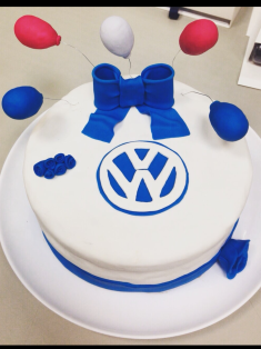 Tarta fondant VW